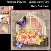 Summer Flowers Windowbox Card