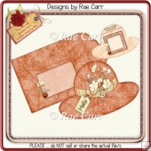 079 Just Peachy Hat Card