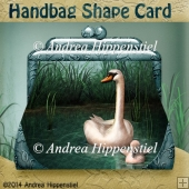Handbag Shape Card Swan
