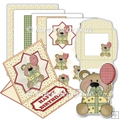Silly Birthday Bear 2 Easel Card