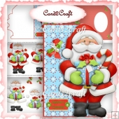 Santa shaped card