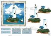 the lighthouse 6x6 card
