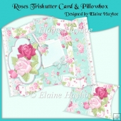 Roses Trishutter Card & Pillowbox