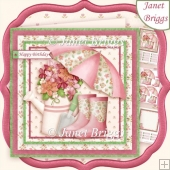 LADY GARDENER 7.5 Decoupage & Insert Kit