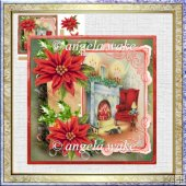 A Chair waits for you 7x7 card with decoupage