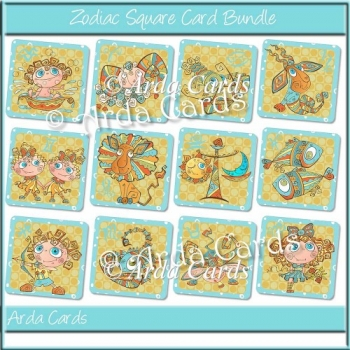 Zodiac Square Card Bundle