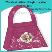 Woodland Wishes Purple Handbag Gift Box