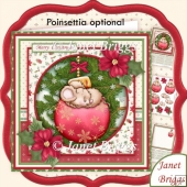Christmas Mouse on Bauble 8x8 Decoupage & Insert Kit