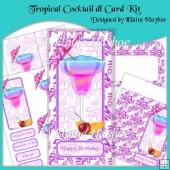 Tropical Cocktail Card Kit
