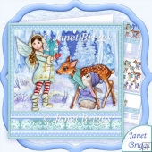 Winter in Fairyland 7.8 Christmas Decoupage & Insert Kit