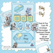 Baby Boy! 3D Twist and Pop Card Kit