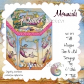 MERMAID HEXAGON GIFT BOX AND TAG