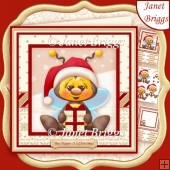 BEE HAPPY IT'S CHRISTMAS 8x8 Decoupage & Insert Kit