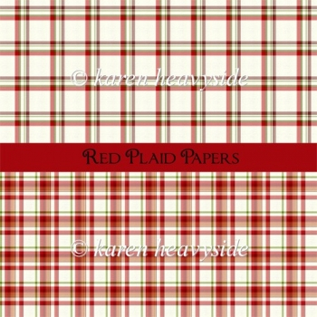 Red Plaid Papers
