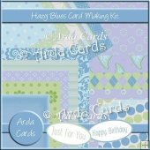 Hazy Blues Card Making Kit