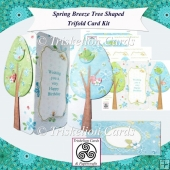 Spring Breeze Tree Shaped Tri Fold Card Kit