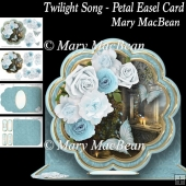 Twilight Song Petal Easel Card