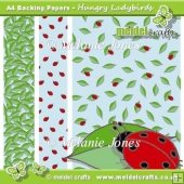 Hungry Ladybirds Backing Papers