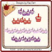 016 Cupcake Borders *Multiple MACHINE Formats*