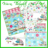 Birdy Warm Thoughts Decoupage Card Kit Sentimental By Design