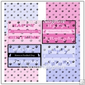 Cat Paws Happy Birthday Card Front x 4