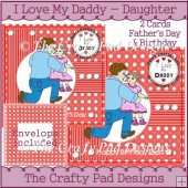 I Love My Daddy - Daughter CARDS