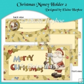 Christmas Money Holder 2 with Decoupage