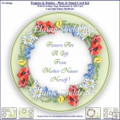 Poppies, Bluebells & Daisies - Plate & Stand Card Kit