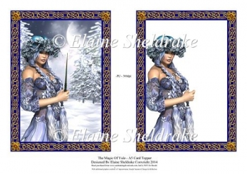 Magic Of Yule - A5 Card Topper With Decoupage