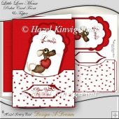 Little Love Mouse Pocket Card Front & Topper