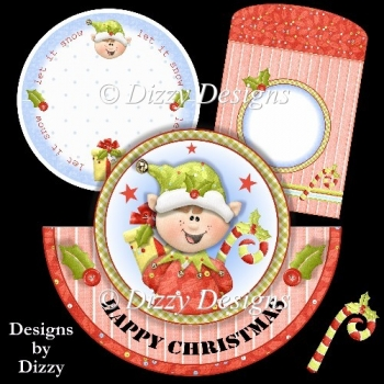 Christmas Elf Rocker Card