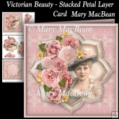 Victorian Beauty - Stacked Petal Layer Card