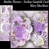 Shabby Flowers - Scallop Gatefold Card