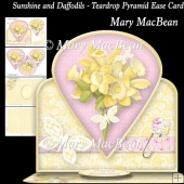 Sunshine and Daffodils - Teardrop Pyramid Easel Card