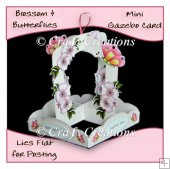 Blossom & butterflies Mini Gazebo Card