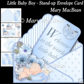 Little Baby Boy - Stand-up Envelope Card