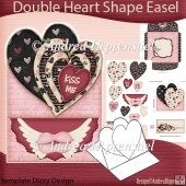 Double Heart Shape Easel Card Beloved
