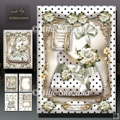 White Polka Dot Handbag with Roses Card