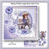 Taking A Rest Large Blue Card Front