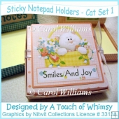 Sticky Notepad Holder - Cat Set 1