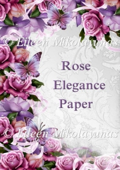 Rose Elegance Backing Background Paper