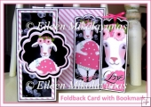 Romance Foldback Card with Bookmark Set Insert