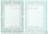 2 x A5 Sea Green (2) Lace Frames for Card Making & Scrapbooking