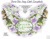 Paris Chic Soap Label Lampshade Kit