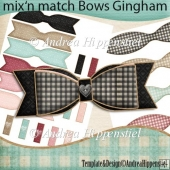 mix and match bows gingham