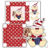 Christmas Baby With Presents 5x5 Box