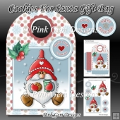 Cookies For Santa Gift Bag With Decoupage