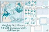 Christmas Card Kit with inserts and envelope and all clipart