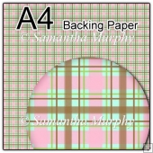 ref1_bp128 - Green Pink & Brown Tartan Checks
