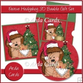 Festive Hedgehog 3D Bauble Gift Set